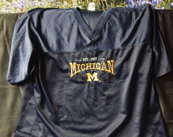 Vintage mesh Michigan college shirt