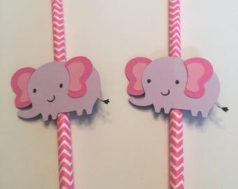 Elephant paper straws