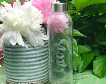 Cheers glass bottle - celebrate with this fun glass!
