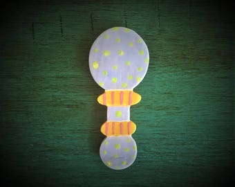 Ceramic Baby Rattle Magnet