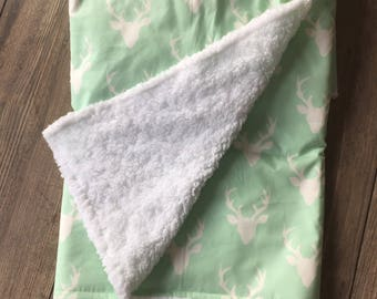 Buck Forest Whole Cloth Baby Quilt