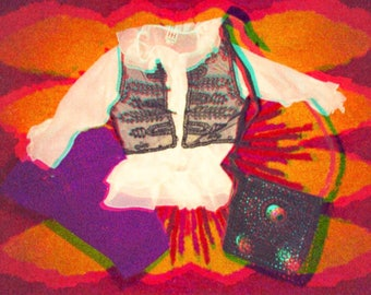 60's Sheer Embroidered Hendrix Vest