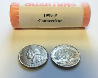 Connecticut State Quarter - 1999 P - One Roll of 40 Uncirculated Quarters