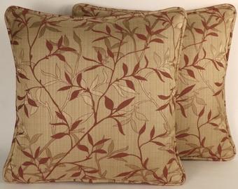 Decorative Throw Pillows, Rust Leaf Throw Pillows, 2 18 Part 89