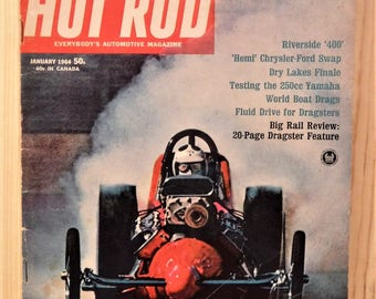 HOT ROD MAGAZINE...January 1964 Issue...Drag Racing...Nascar...Tech Features...Great Ads!