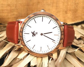 KONA SERIES (Rosegold) - Wood Watch, Wooden Watch, Present, Gift, Wood Watches, Wooden Watches, Men's Watch, Ladies Watch, Island Watch