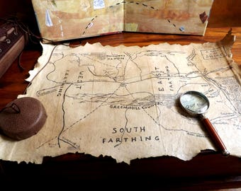 Lord of the Rings maps - Handmade LOTR maps -Tolkien maps - Collectible