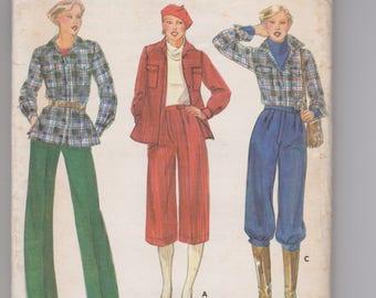 Butterick 5654 / Misses Jacket & Pants / Size 16 / 70's Vintage Sewing Pattern