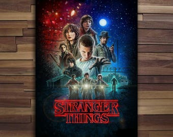 Stranger Things Poster - Canvas