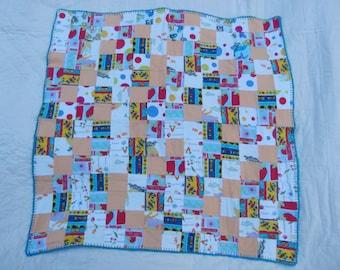 Baby Receiving Blanket in Patchwork