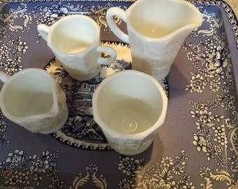 LOT of Paneled Grape Pattern WESTMORELAND Milkglass
