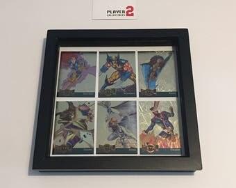 Framed Set of X-Men Marvel Metal Cards