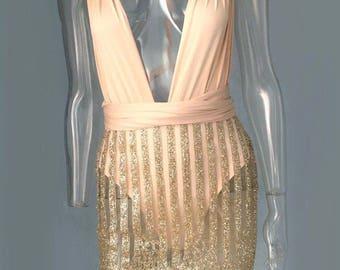 Strapless body con dress