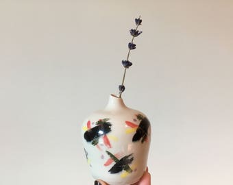 Small Handmade Retro Inspired Bud Vase