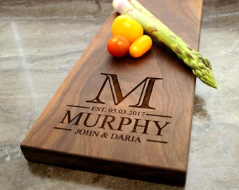 Personalized Cheese Board, Serving Board, Bread Board, Custom, Engraved, Wedding Gift, Housewarming Gift, Anniversary Gift, Engagement #30
