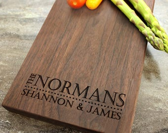 Personalized Cheese Board, Serving Board, Bread Board, Custom, Engraved, Wedding Gift, Housewarming Gift, Anniversary Gift, Engagement #14