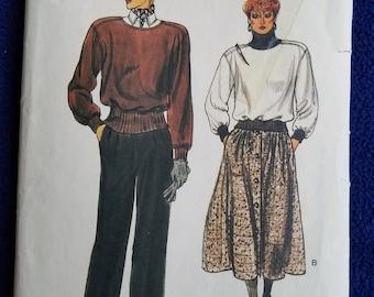 Vogue Pattern #7448 Misses Sz 14/16/18 Skirt, Pants and Top