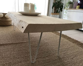 Low raw pine table