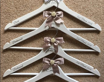 Personalised, Wedding Hanger, Bride, Bridesmaid, Flowergirl, Gift.