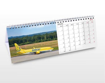 Personalised Vehicles Desk Calendar Gifts Ideas For Lover Cars Planes Airoplanes Trucks Lorries Vans