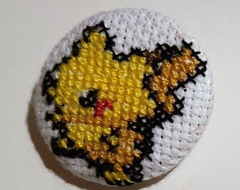 Embroided Pikachu Pokemon badge