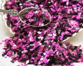 Glass Glitter/DARK FUSION Glitter/Fuchsia Dark Fusion Glitter/Vintage Glitter/Ornaments/Cards/Wedding/Holiday DIY/Home Decor