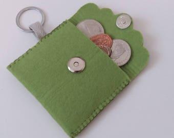 Handmade purse for coins from hand-gemache purse for coins made of felt felt