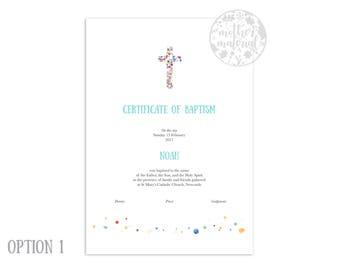 "Baptism or Christening Certificate ~ ""Noah"""