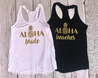 Aloha Bride & Beaches - Bachelorette Tanks