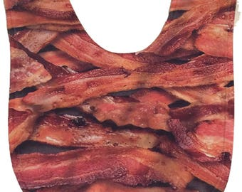 Bacon Baby Bib - Hand Printed in USA - Bacon Gifts | Bacon | Funky infant Bibs | Crazy Baby Bibs | Funny Baby Bibs  | Infant, Baby, Toddler
