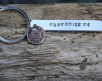 Personalized Coin Keyring