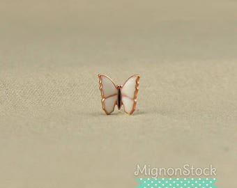 Butterfly - brass, copper white