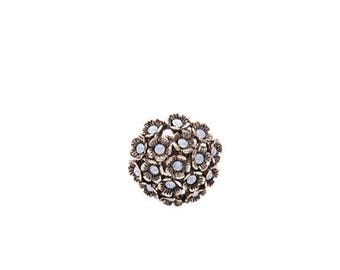 Antique Flower Ring, Vintage Ring, One Size Adjustable Ring