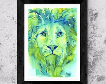 Lion art, *Digital, lion art, african lion, lion artwork, lion, lion painting, lion watercolor, art, artwork,buy, lion painting, watercolor