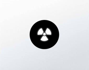Radioactive Symbol MacBook Decal Apple Logo MacBook Sticker Minimalist Biohazard Logo Sticker Nuclear Symbol Decal Vinyl Apple Decal m1305