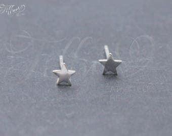 Earrings 925 Sterling Silver * Star * stud earrings * star *.