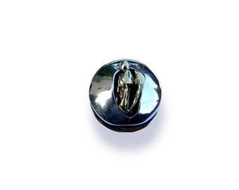 big silver ring solid brass