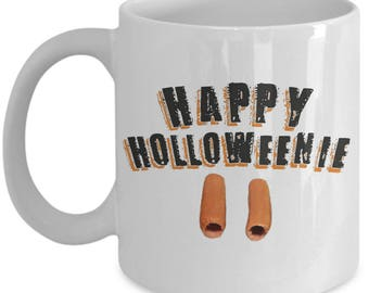 Happy Halloweenie 11 oz White Mug