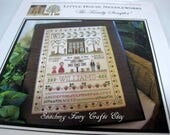 Cross stitch pattern by Little House Needleworks The Family Sampler.