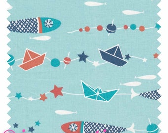 "Fabric ""Sea fish"" 100% cotton sold by the yard"