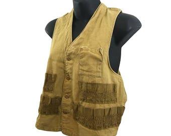 Vintage Brown Vest - sm/med