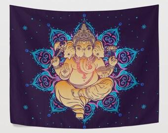 Indische Ganesha Wandteppich Wandbehang Mandala O Chakra Elefant Buddha Hinduismus Dekor Wandkunst Fr Wohnzimmer Schlafzimmer Wohnheim