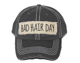 Bad Hair Day  Vintage Style Baseball Cap