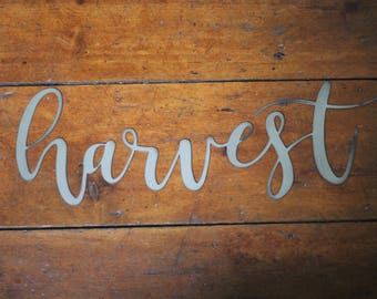 "Metal ""harvest"" Sign"