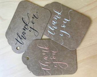 Tags | Gift Tags | Thank you | Personalized | Custom | Lettered | Wedding