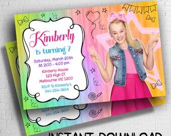 Jojo Siwa Invitation Instant Download, Jojo Siwa Invitations Digital, Jojo Siwa Birthday, Jojo Siwa Party, Jojo Siwa Print, Jojo Siwa Invite