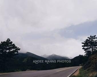 Mountain Photo, Landscape Photo, Clouds, Rocky Mountains, Estes Park