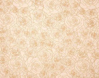 Priority Square by Art Gallery Fabric gold rose, cream rose, floral fabric,