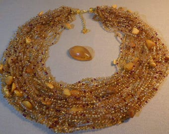 "Sale 15%   Necklace ""Vozdushka"" with natural amber."