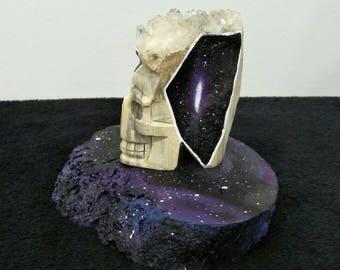 Cosmic Crystal Skull / Quartz Cluster / Universe / Galaxy /Gemstone